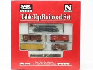 N Scale Micro-Trains MTL Table Top Railroad Set w/NYC Diesel & Track