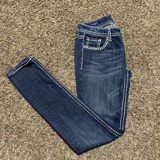Vigoss The Chelsea Skinny Jeans Denim Pants Women's Size W26 L31 Thick Stitch