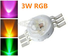 3W RGB High Power LED 3-CHIP LED Bead 6 Pin Energy Saving DIY Diode Lamp 3watt