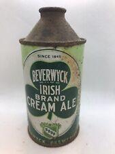 Beverwyck Irish Brand Cream Ale Cone Top Beer Can - 12 Fl., Oz., - Albany, Ny