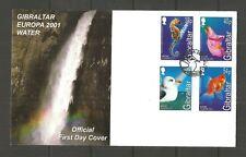GIBRALTAR 2001 EUROPA (WATER) FDC SG,968-971 LOT 815B