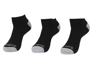 Timberland Men's 3-Pairs Cushioned Solid No Show Socks