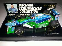 1/43 Schumacher 🇩🇪 Mild Seven Benetton B194 World Champ 1994🏆MSC11 Minichamps