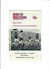 Hearts v Rangers - 06/09/1975