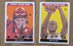 2020 Sportkings Base (2) Lot: Ray Allen, Mike Smith