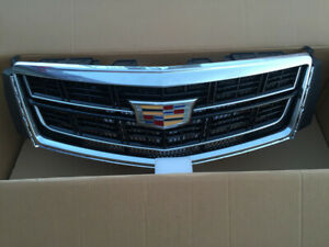 For 2013-2017 Cadillac XTS Grill Bumper Radiator Grilles Upper Grille With Badge
