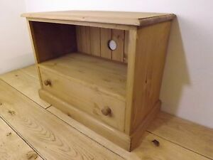 """Pine TV /DVD unit made by our own carpenters. 28"""" width"""