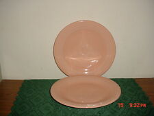 "2-PC GENUINE FIESTA ""PEACH-APRICOT"" 10 3/8"" DINNER PLATES/USA/STAMPED/FREE SHIP!"
