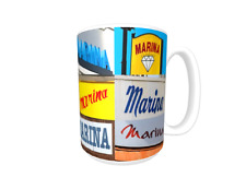 MARINA Coffee Mug / Cup featuring the name in actual sign photos