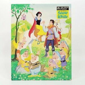 Walt Disney Snow White Jigsaw Puzzle 200 Piece Golden Western Publishing Vintage