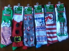 """Christmas HOUSE"" Women's Knee High Socks-Fits Shoe Size 5-9-NEW with TAGS Santa"
