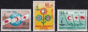 Türkiye / Türkei Nr. 1873-1875** 100 Jahre Intern. Rotes Kreuz