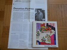 DONATION PICASSO. catalogue d'exposition.1978. Braque, Cézanne, Matisse, Renoir