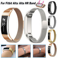For Fitbit Alta / Alta HR Band Stainless Steel Milanese Wristband Magnetic Clasp