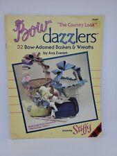 Plaid #8400 Dazzlers 32 Bow-Adorned Baskets & Wreaths Featuring Stiffy Vtg 1989