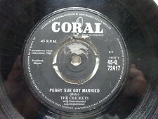 "BUDDY HOLLY & THE CRICKETS Peggy Sue Got Married - Coral 7"" (1960)"