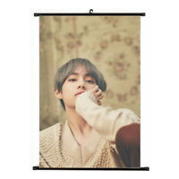 Kpop Bangtan Boys V Hanging Painting Art Painting Wall Scroll Poster