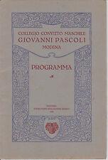 AA101-COLLEGIO CONVITTO MASCHILE G,PASCOLI-MODENA-PROGRAMMA ANNO 1924