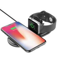 Induktives Ladegerät Wireless externer Charger QI Ladestation kabellos 2in1