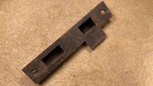 Antique Mortise Door Lock Striker Strike Plate Latch Catch Entry Lock Brass