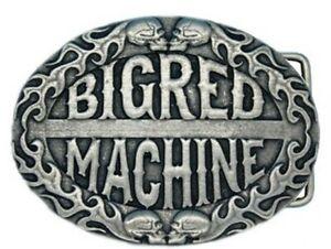 "Hells Angels Support 81 Belt Buckle Made of Metal "" Big Red Machine """