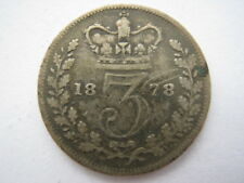 1878 Young Head silver Threepence F