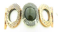 NEW Hilary Joy Obsidian Text Sterling Silver & Copper Stretch Bracelet NWT $219