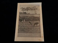 Vintage USDA Multiflora Rose Living Fences and Wildlife Cover Leaflet 1950 EHv