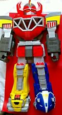 "2015 Power Rangers Megazord Robot FigureToy 27"" Tall Red Imaginext Fisher Price"