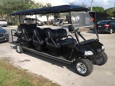 2020 black Evolution Golf Cart Carrier LIMO 8 Passenger seat 48v WARRANTY