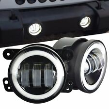 "4"" LED Fog Light Bumper Lamp Halo Chrysler 300 PT Cruiser Dodge Journey Magnum"