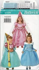 Butterick 4599 Costumes Pattern UNCUT Childs size 2-6X Princess Fairy Dresses