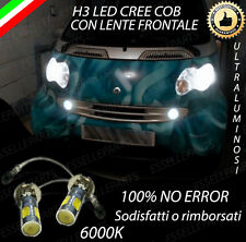 COPPIA LAMPADE FENDINEBBIA H3 LED CREE COB CANBUS SMART FORTWO 450 6000K