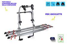 Portabici posteriore auto universale porta bici acciaio per 3 biciclette kit in
