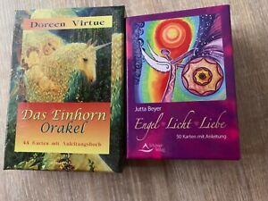 2 Decks Orakel Karten Einhorn Virtue + Engel Licht Liebe Jutta Beyer