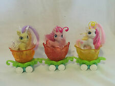 ~ MY LITTLE PONY ~ PONYVILLE BREEZIES  x 3 - FLUFFALUFF SILLY LILLY + carriages