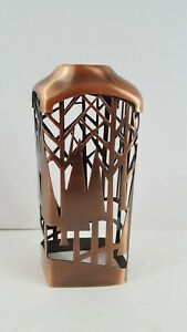Bath & Body Works Bronze Copper Foaming Hand Soap Sleeve Holder Trees