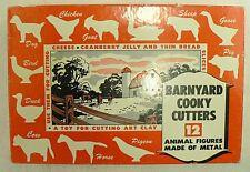 VINTAGE BARNYARD COOKIE CUTTERS IN ORIGINAL BOX
