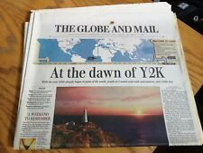Y2K Newspapers * from Dec 31st 1999 & Jan 1st 2000 -Combo -the Globe & Mail