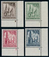 BERLIN 1953, MiNr. 106-109, 106-09, Bogenecken rechts unten, postfrisch