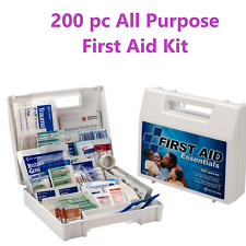200 pc First Aid Kit Emergency Bag Home Car Outdoor, All Purpose, Plastic Kit