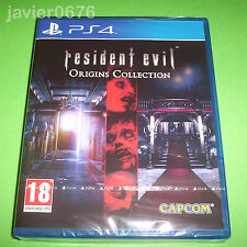 RESIDENT EVIL ORIGINS COLLECTION NUEVO Y PRECINTADO PAL ESPAÑA PLAYSTATION 4 PS4