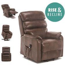 More4homes Buckingham Elecrtic Rise Recliner Leather Air Riser Sofa Armchair