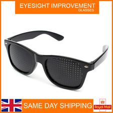 Pinhole Eyesight Improvement Eye Training Exercise Glasses Eyewear NEW UK STOCK