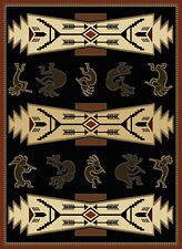 """Black All-Over Navajo Area Rug United Weavers 550-26770 - Aprx 5' 3"""" x 7' 2"""""""
