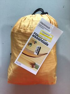 Room Essentials Nylon Hammock with Carrying Bag Attached Yellow Gold Red Fold Up