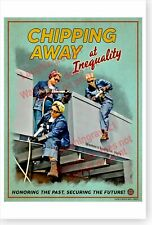 2020 Women's Equality Day Chipping Away At Inequality Rosie Riveter DOD Poster