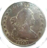 1801 Draped Bust Silver Dollar $1 BB-214 B-4 - Certified PCGS VG Details