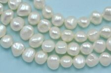 6-7mm Ivory White Baroque Nugget Freshwater Pearls Beads for Jewellery Making