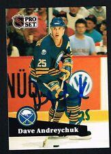 Dave Andreychuk #23 signed autograph auto 1991-92 Pro Set Hockey Trading Card